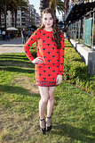 Hailee Steinfeld got an eyeful of a look out of the Fall 2013 Kenzo dress she wore to a press preview for Ender's Game.