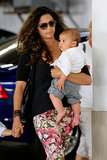 Camila Alves held on to her son, Livingston McConaughey.