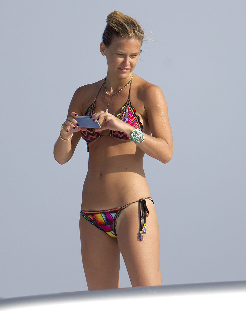 Bar Refaeli snapped photos while hanging out on a boat in Spain.