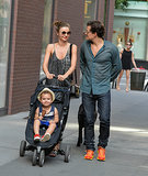 Miranda and Orlando spent the Fourth of July with their son Flynn in NYC in July 2013.