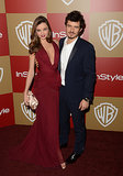 Lady in red, Miranda Kerr, steps out for the Instyle Golden Globe Awards After Party in 2013.