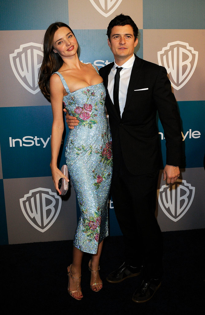 Miranda favours floral at the Instyle Golden Globe Awards After Party in 2012.