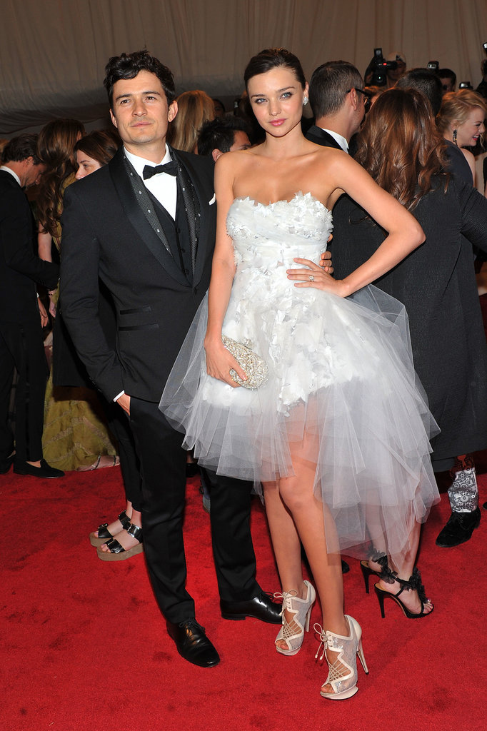 Miranda and Orlando step out in style for the Alexander McQueen: Savage Beauty Costume Institute Gala at The Metropolitan Museum of Art in 2011.