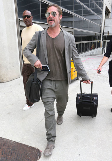 Brad Pitt arrived at LAX.