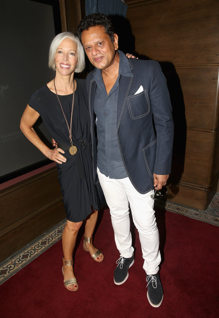 Linda Fargo and Naeem Khan screened Scatter My Ashes at Bergdorf's while attending the Mercedes-Benz Fashion Week Swim shows in Miami.