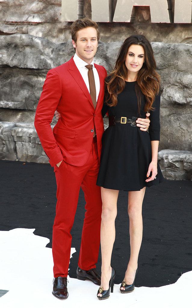 Armie Hammer and Elizabeth Chambers made a handsome couple in striking ensembles at the London premiere of The Lone Ranger.