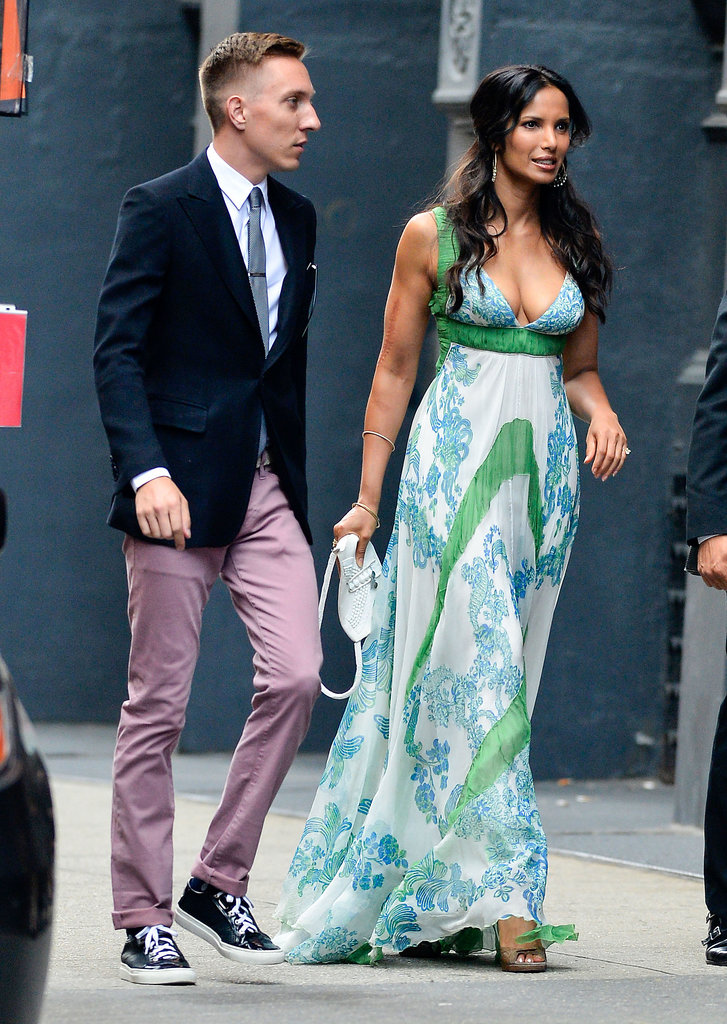 Padma Lakshmi wore a flowing dress.