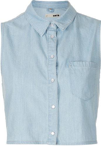 MOTO Crop Sleeveless Shirt