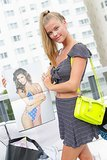 A pop of citron gave this girlie crop-top-and-mini look a little Miami-style edge. Source: David X Prutting/BFAnyc.com