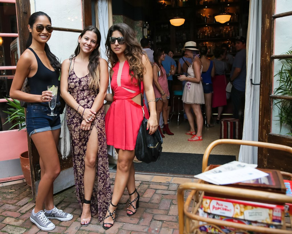 A trio of hot Miami style, from denim cutoffs to a cutout dress. Source: David X Prutting/BFAnyc.com