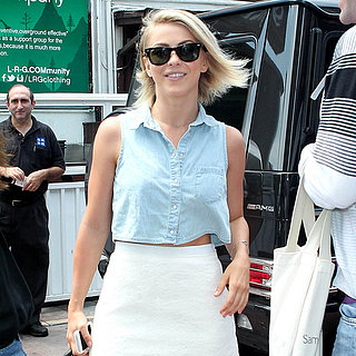 Julianne Hough Wearing Denim Shirt