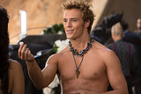 Sam Claflin as Finnick in Catching Fire.