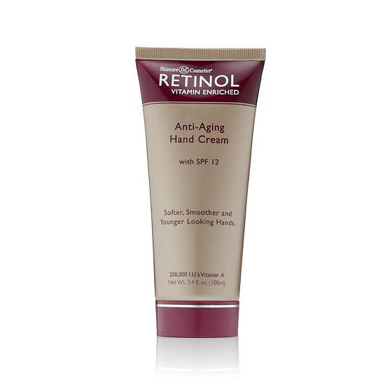 Retinol Anti-Aging Hand Cream with SPF 12 ($13) gives your hands the dynamic duo of antiaging with a budget-friendly price.