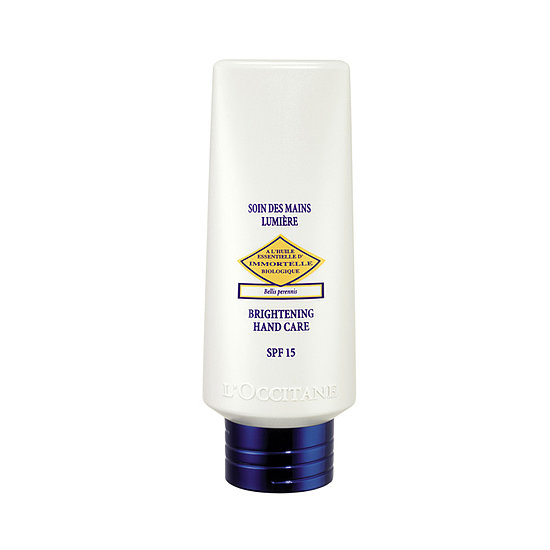 The lightweight L'Occitane Immortelle Brightening Hand Care SPF 15 ($30) protects your hands from sun damage, while immortelle essential oil fights wrinkles, and vitamin C brightens uneven skin tone.