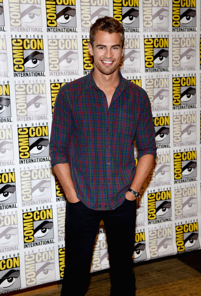 Theo James attended the press line for Divergent, which also stars Shailene Woodley.
