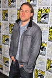 Charlie Hunnam was at the press line for Sons of Anarchy.