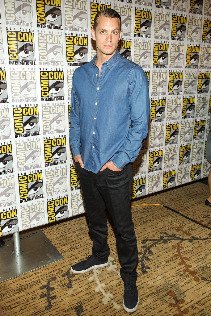 Joel Kinnaman was photographed at the press line for RoboCop.