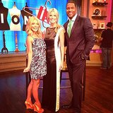 Heidi Klum stopped by LIVE With Kelly and Michael to promote America's Got Talent. Source: Instagram user heidiklum