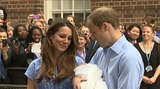 Kate Middleton and Prince William gave their son a loving look as they left St. Mary's Hospital.