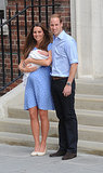 The Duke and Duchess of Cambridge posed for a photo with the royal baby when they left the hospital.
