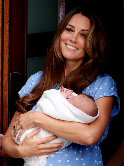 Kate Middleton was glowing as she held the royal baby.