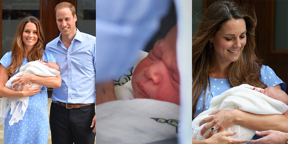 Prince William and Kate Middleton Speak About the Royal Baby at His Debut