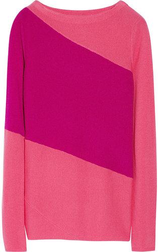 Diane von Furstenberg Nora two-tone wool-blend sweater