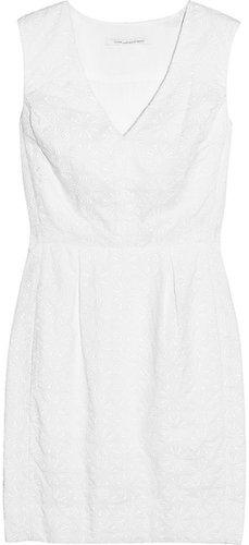 Diane von Furstenberg Fumi broderie anglaise cotton dress