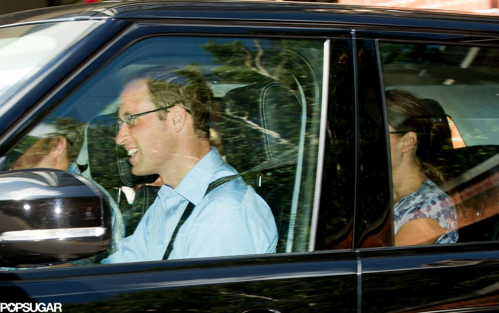 Prince William and his new family drove to Kate Middleton's family's home.