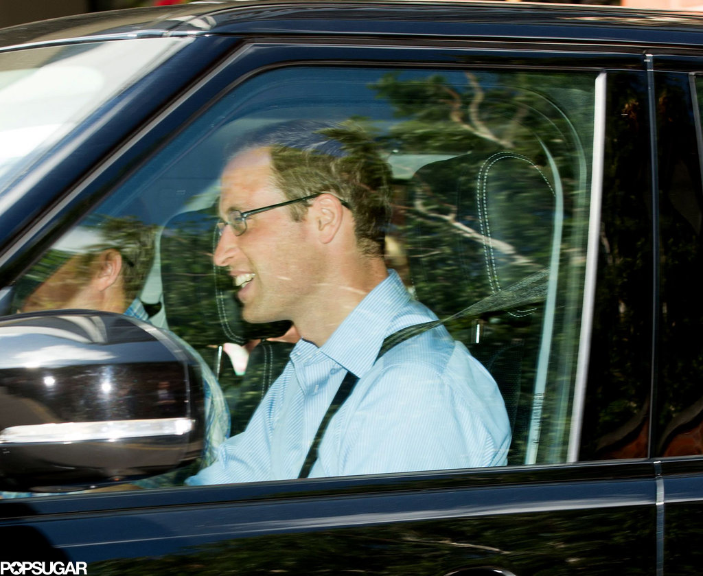 Kate Middleton and Prince William Head to Her Parents' Home With the New Royal