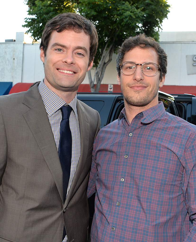 Bill Hader linked up with Andy Samberg at the premiere of The To Do List in LA.