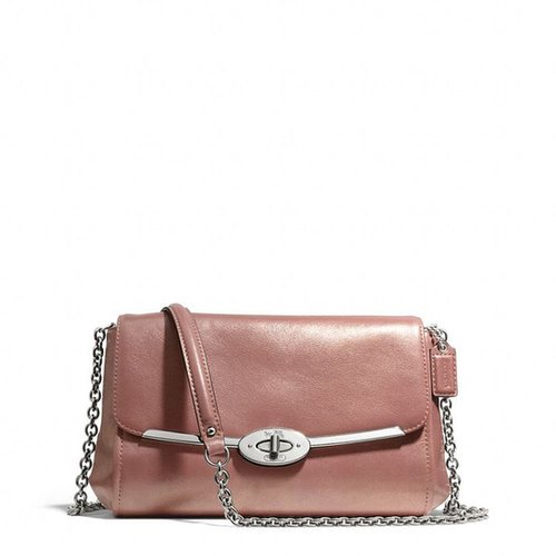 Madison Chain Crossbody In Metallic Leather
