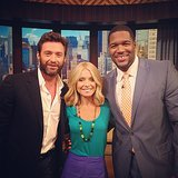 Hugh Jackman stopped by the set of LIVE With Kelly and Michael. Source: Instagram user kellyandmichael