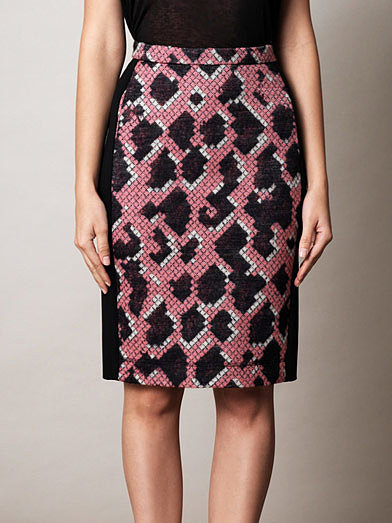 All you need to finish this Balenciaga Jacquard Snake Pencil Skirt ($704) off is a black t-shirt and pumps — easy, right?