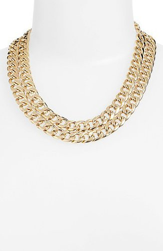 BP. Double Chain Necklace Gold