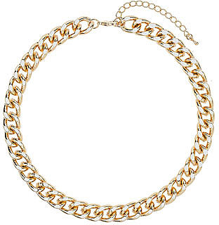 White and gold chain necklace