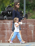 Jennifer Garner also walked with Seraphina.
