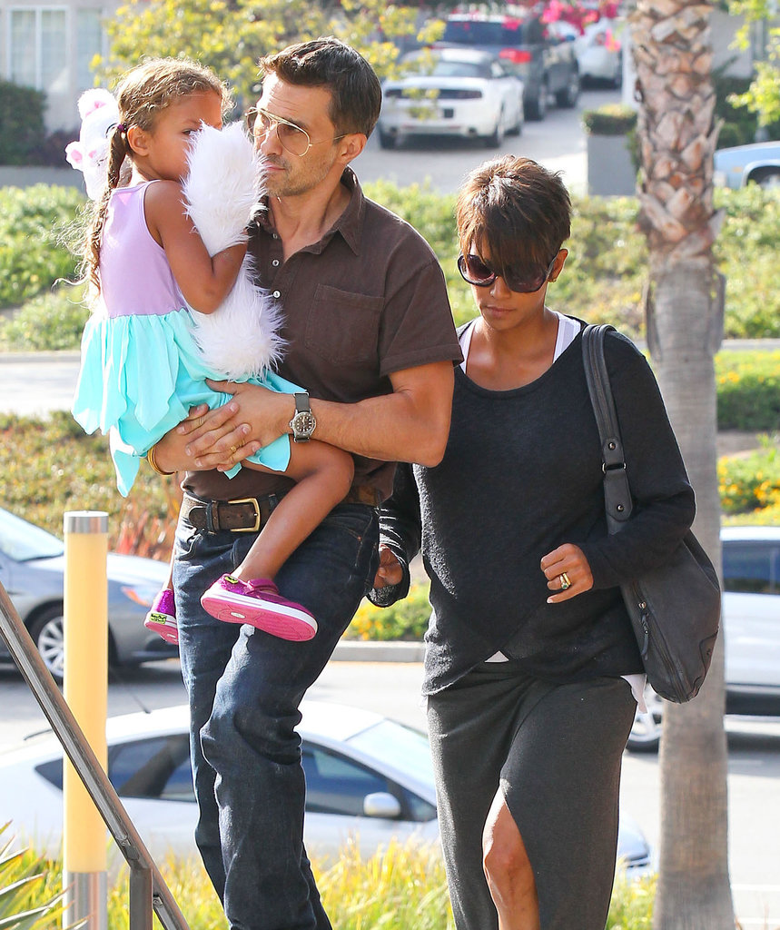 Olivier Picks Up Daddy Duties During a Date With Halle