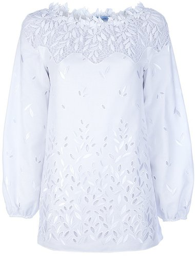 Blumarine cut-out embroidered blouse
