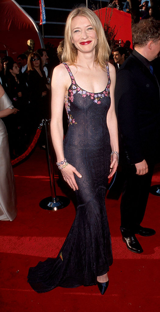 The John Galliano floral gown Cate Blanchett chose for the 71st Annual Academy Awards left little to the imagination. We applaud her daring nature.