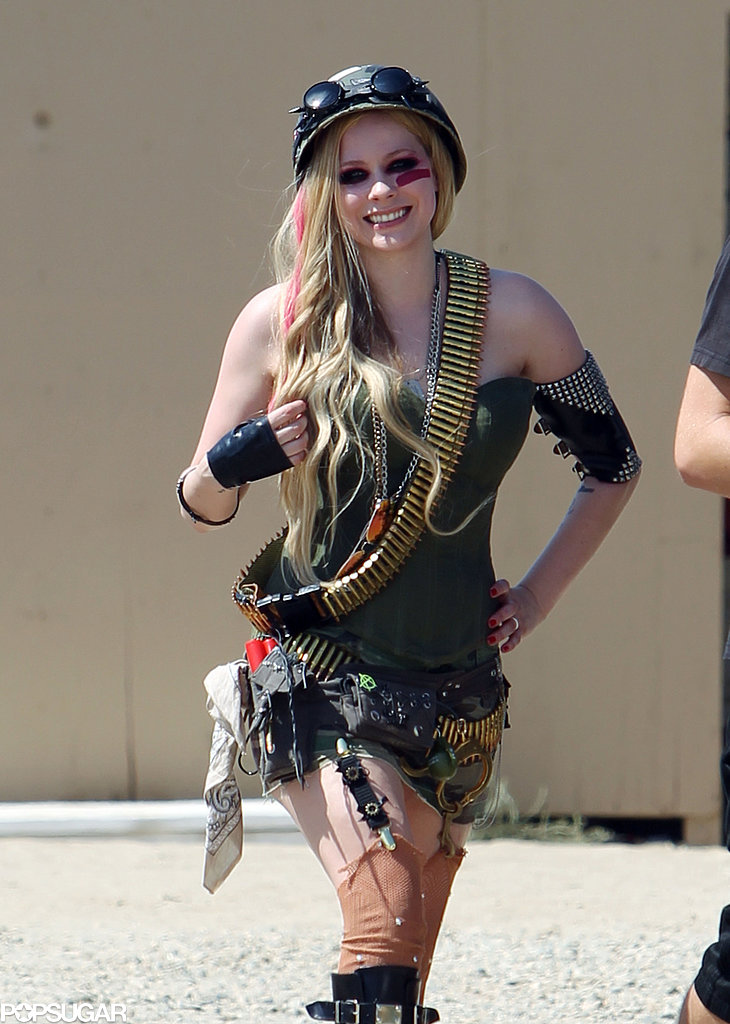 "Avril Lavigne shot her video for ""Rock N Roll"" in LA."
