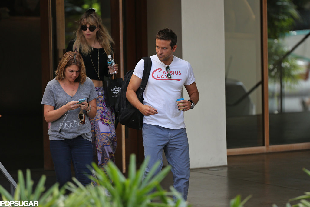 Bradley Cooper and Suki Waterhouse left their hotel in Hawaii.