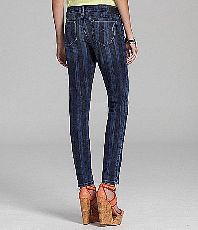 SOLD Denim Soho Striped Skinny Jeans