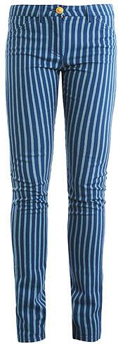 Versace Bi-colour mid rise straight-leg jeans