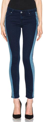 EACH x OTHER By Thomas Lelu Stripe Slim Jean in Electric Blue