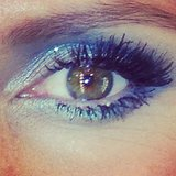 Heidi Klum's gorgeous blue eye makeup was an instant showstopper. Source: Instagram user heidiklum