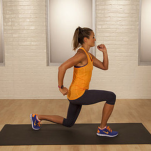 One-Minute Leg Workout: Split Lunge Jump