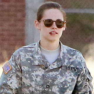 Kristen Stewart on Set in Army Fatigues With Bloody Lip