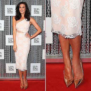 Megan Gale Steps Out in Alex Perry at the 2013 ASTRA Awards