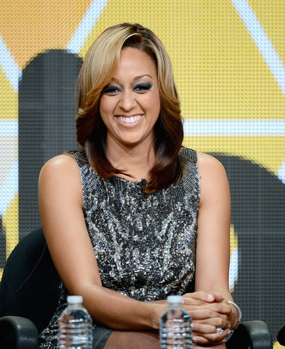 Tia Mowry was a part of the Viacom presentation.